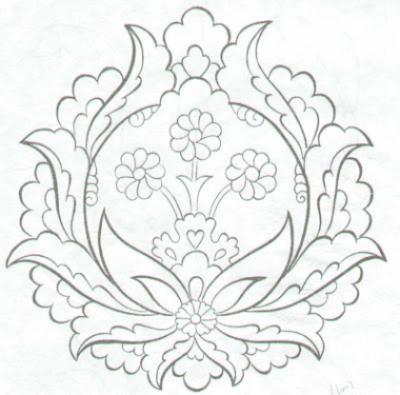 çini Desenleri Desen Kaliplari Pinterest Embroidery