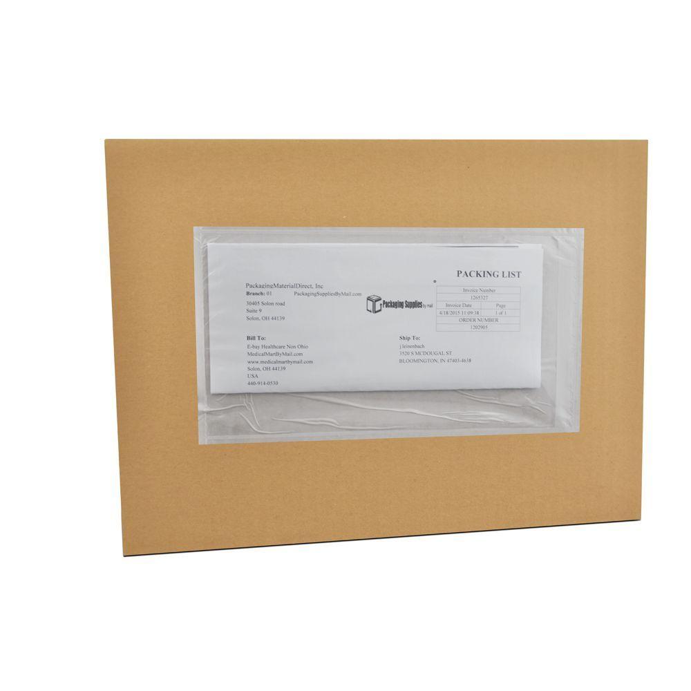"""(4000 Pack) 9 x 12 Plain Re-Closable Packing List Envelopes Bag (9"""" W x 12"""" L, )"""