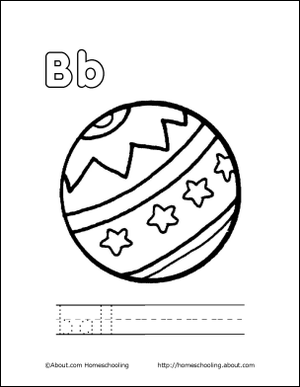 My B Book: Ball Coloring Page | Bright Beginnings