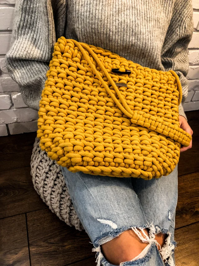 Photo of Mustard crochet bag for the upcoming autumn :) THAT color