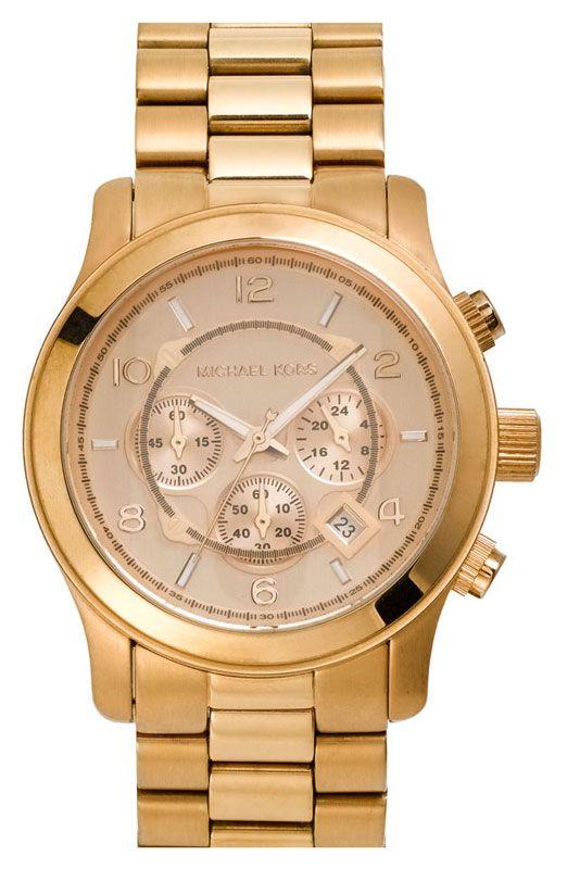 e66025f93fce Michael  Kors MK8096 Men s Rose Gold Oversize Runway Watch