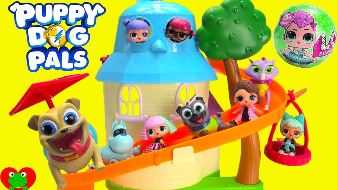 Puppy Dog Pals On A Mission Elevator Dog House Playset Party With