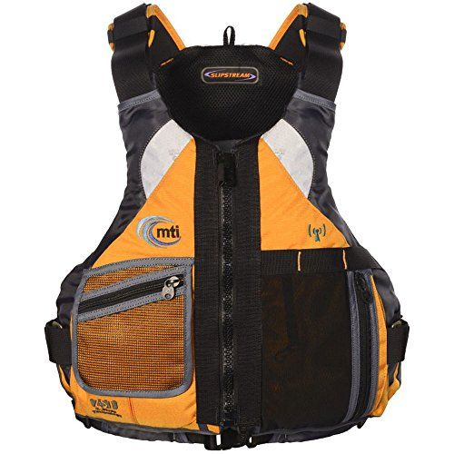 MTI Adventurewear Slipstream Performance Paddling SUP PFD Life Jacket, Mango/Dark Gray, Large/X-Large >>> Continue to the product at the image link.