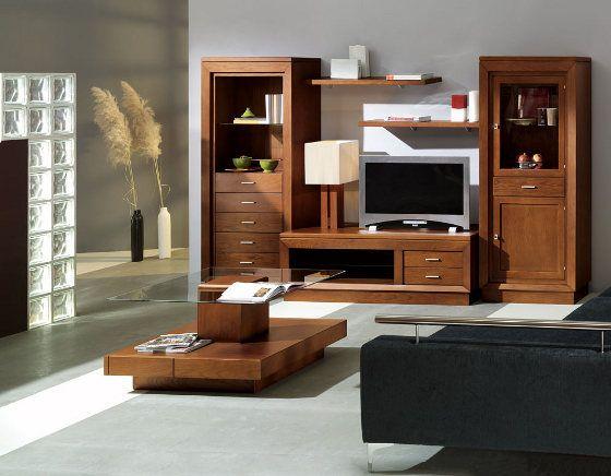 mueble-salon-comedor-madera-maciza-fresno.jpg (560×436) | sala ...