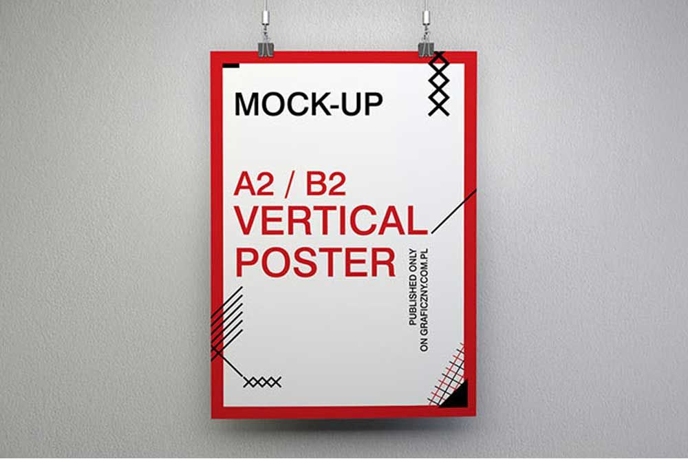 Free Download Poster Mockup In PSD