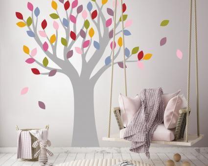 Mal Etwas Anderes Ein Zauberbaum Mit Bunten Blattern Wandtattoo Baum Kinderzimmer Dekora Wandtattoo Baum Kinderzimmer Kinder Zimmer Baum Kinderzimmer