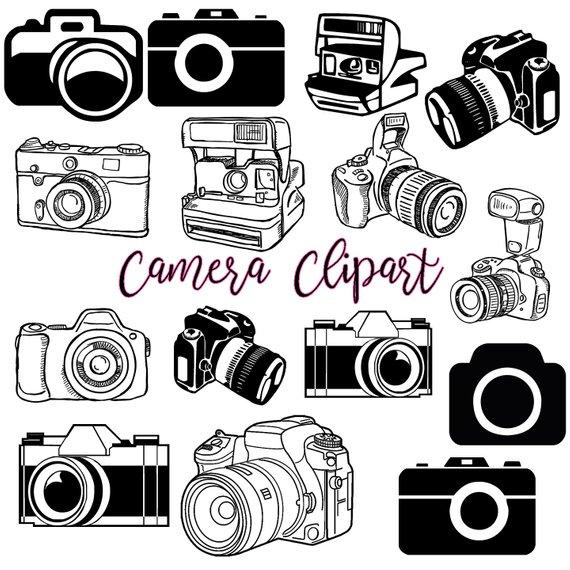 Camera Clipart 1 Photography Clip Art Logo Elements Stamps Retro Camera Clip Art Vintage Camer Camera Tattoo Camera Clip Art Vintage Camera Tattoos