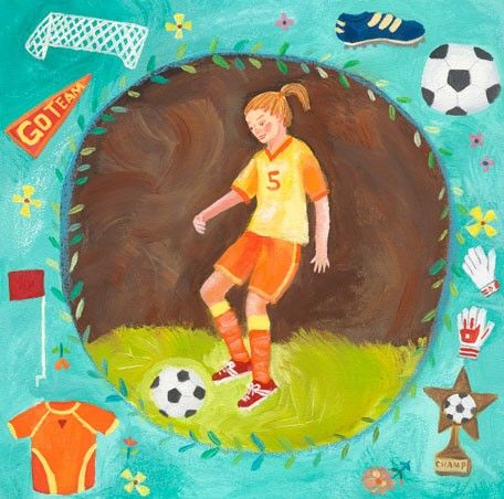 Soccer star girl canvas wall art from oopsy daisy fine art