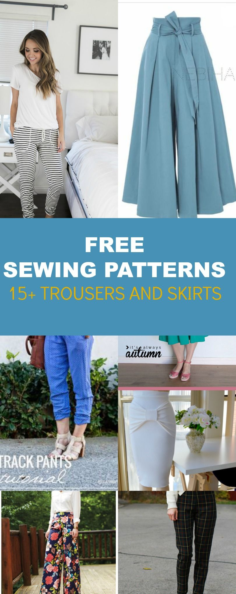 FREE PATTERN ALERT: 15+ Pants and Skirts Sewing Tutorials -   12 DIY Clothes Patterns free printable ideas