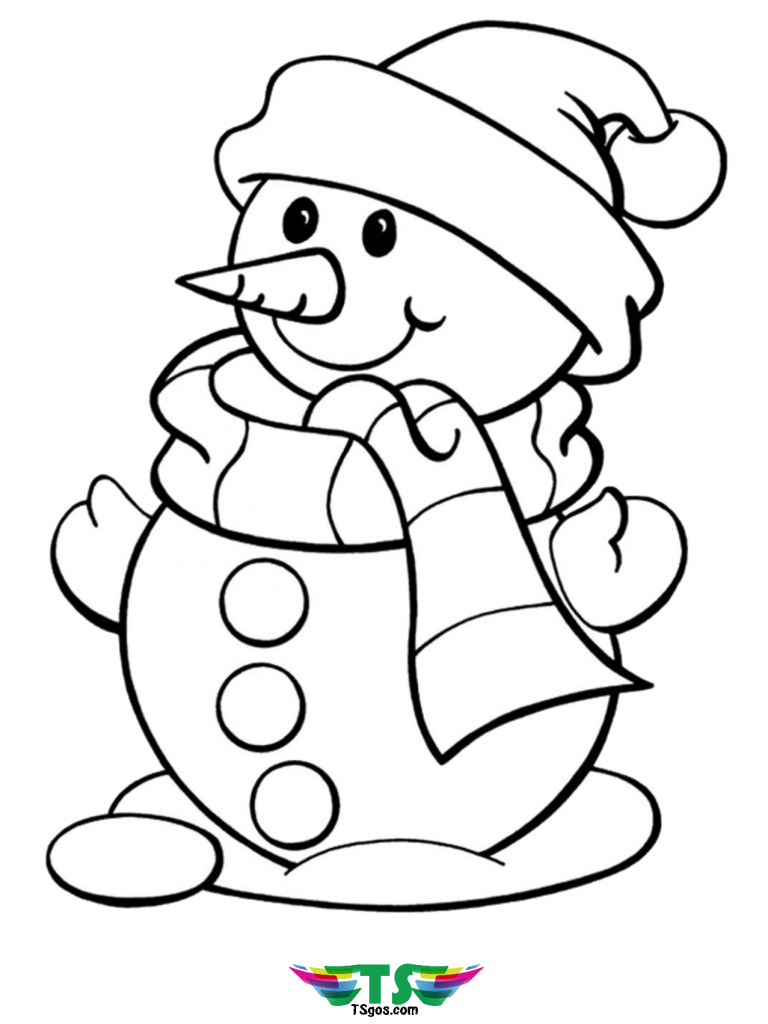 Free Printable Winter Snowman Coloring Picture Snowman Coloring Pages Free Christmas Coloring Pages Christmas Coloring Sheets