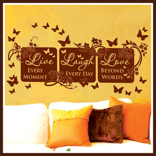 Vinyl Wall Decor Mural Quote Decal LIVE LAUGH LOVE #64 | Vinyl wall ...