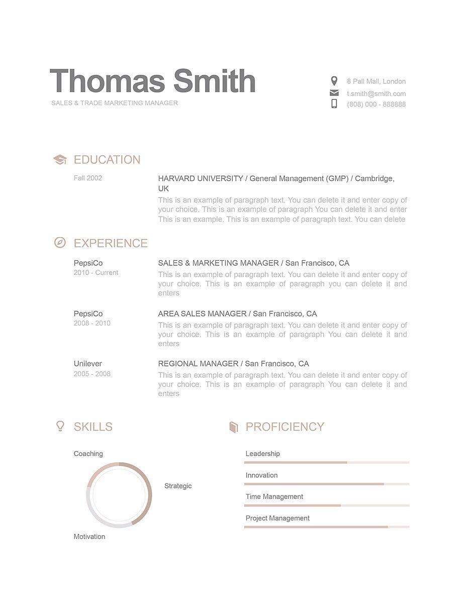 Resume Template 110790 Good Resume Examples Modern Resume