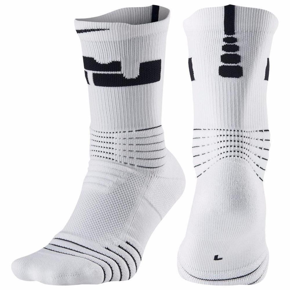 4c5f389f258a Nike Mens LeBron Elite Versatility Crew Basketball White Socks M L XL  SX5399-100  Nike  Athletic