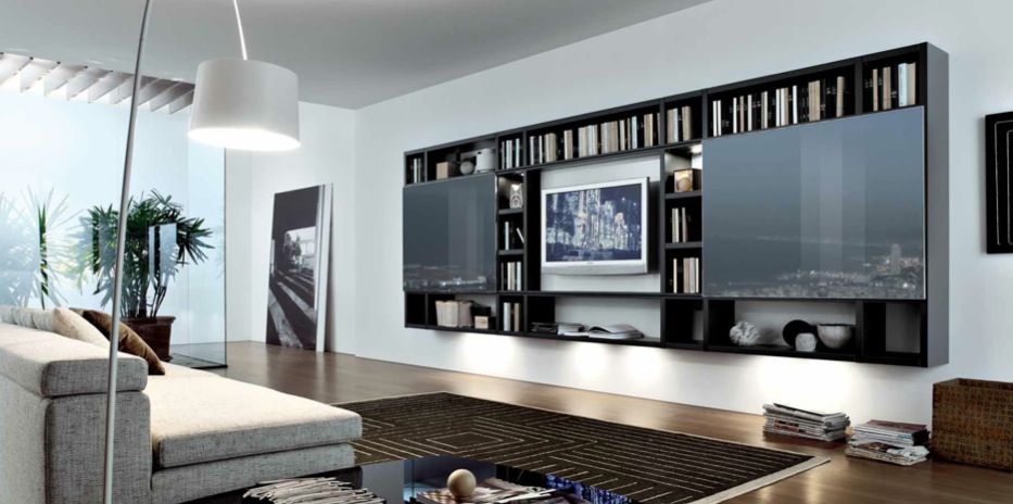 MisuraEmme Modern Style Living Rooms: black brown white contemporary ...