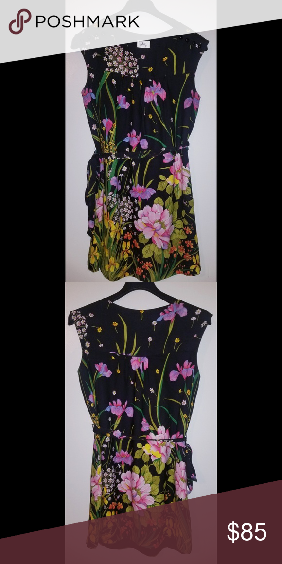 920694b635 An Original Milly Of New York Sleeveless dress Sleeveless floral dress with  tie waist by Milly of New York. Absolutely stunning!