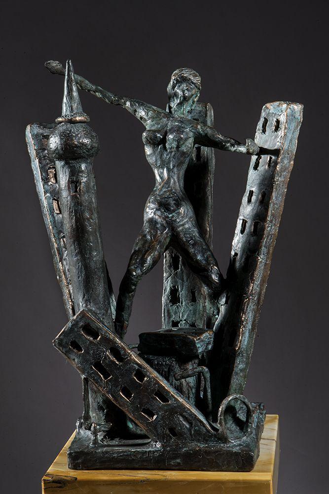 THE OMEN bronze cm.50 arch.14107 - L'AUSPICIO