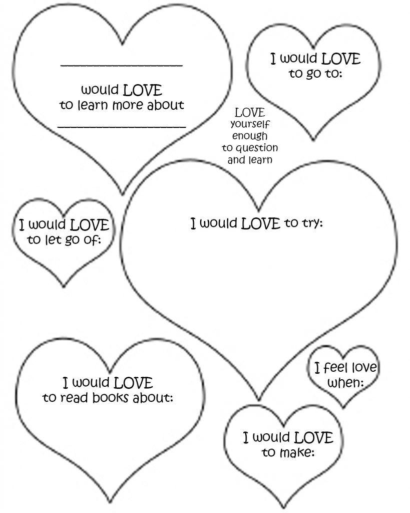 Valentines Worksheets With Images Self Esteem Worksheets