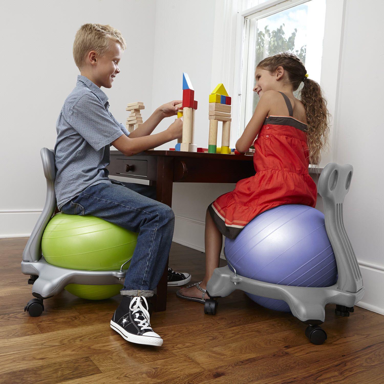 Yoga Exercise Balance Ball Antiburst Dualsided Foot Inflation Pump
