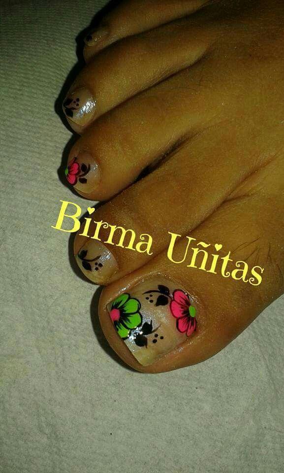 Pin de Hidy Mori en uñas Pies | Pinterest | Uñas pies, Uñas de pies ...