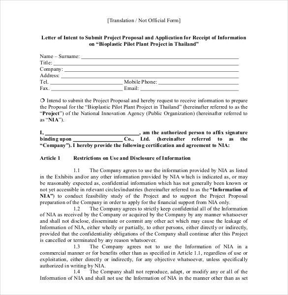 10 Proposal Letter Samples Word Excel Pdf Templates Www