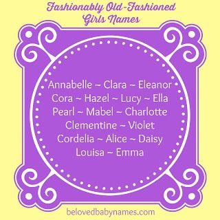 Old fashioned girls names beginning with m 85