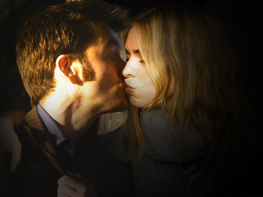 The Tenth Doctor And Rose Kiss By ~Nyah86 On DeviantART