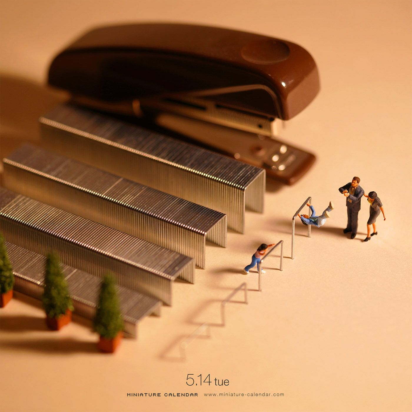 Miniature Calendar Creative Photography By Tatsuya Tanaka