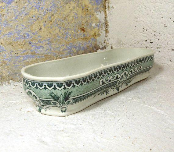 French Antique Sarreguemines Soap Dish Vintage By Labonnevie72 French Antiques Antiques Antique Items