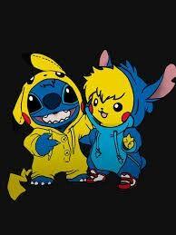 Pika Stich And Stichachoo Cute Cartoon Wallpapers Cute Disney Drawings Cute Pokemon Wallpaper
