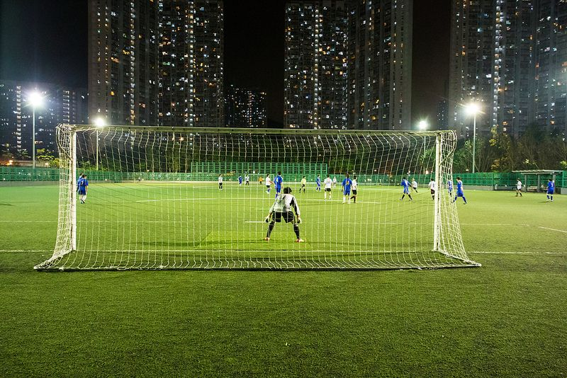 """""""夜間足球 Nighttime Football (Soccer)"""" / 香港體育男運動員 Hong Kong"""