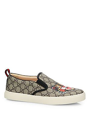 2ffdbdcaa Gucci Dublin Angry Cat GG Supreme Skate Sneakers | Shoe Obsessed ...