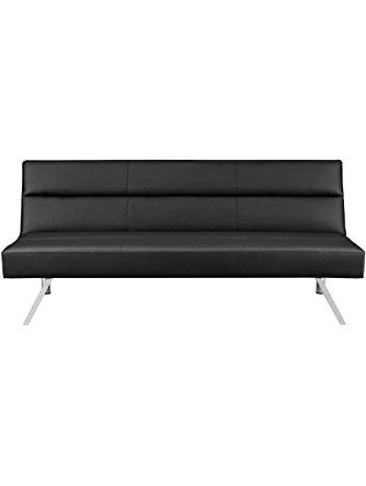 Premium Sofa Futon Couch, Modern Design W/ Rich Faux Leather, Sturdy Stainless Steel Legs and Comfortable Memory Foam Cushion, From Sofa to Bed in Seconds ❤ dorel