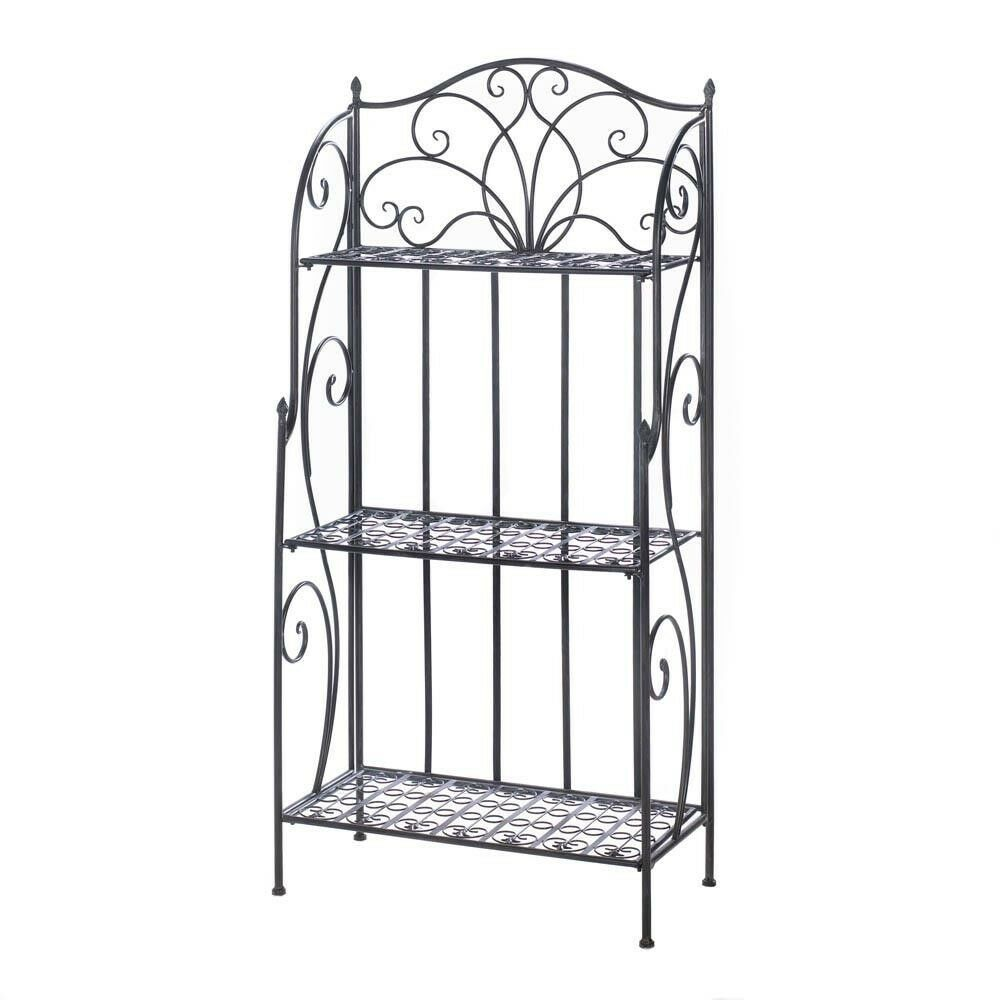 3 Tier Metal Iron Baker S Shelf Rack Plant Stand Shelves