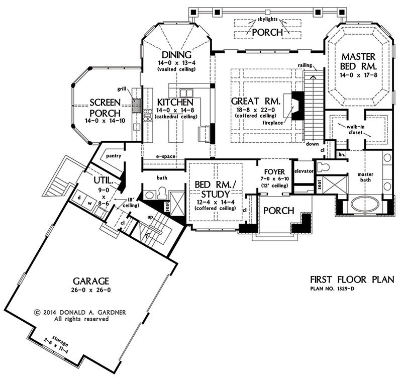 Home Plan The Sandy Creek By Donald A Gardner Architects Cottage Style House Plans Log Cabin House Plans How To Plan