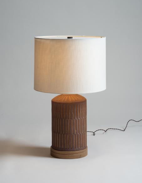Stahl Band Ceramic Lamp Lamp Linen Lights