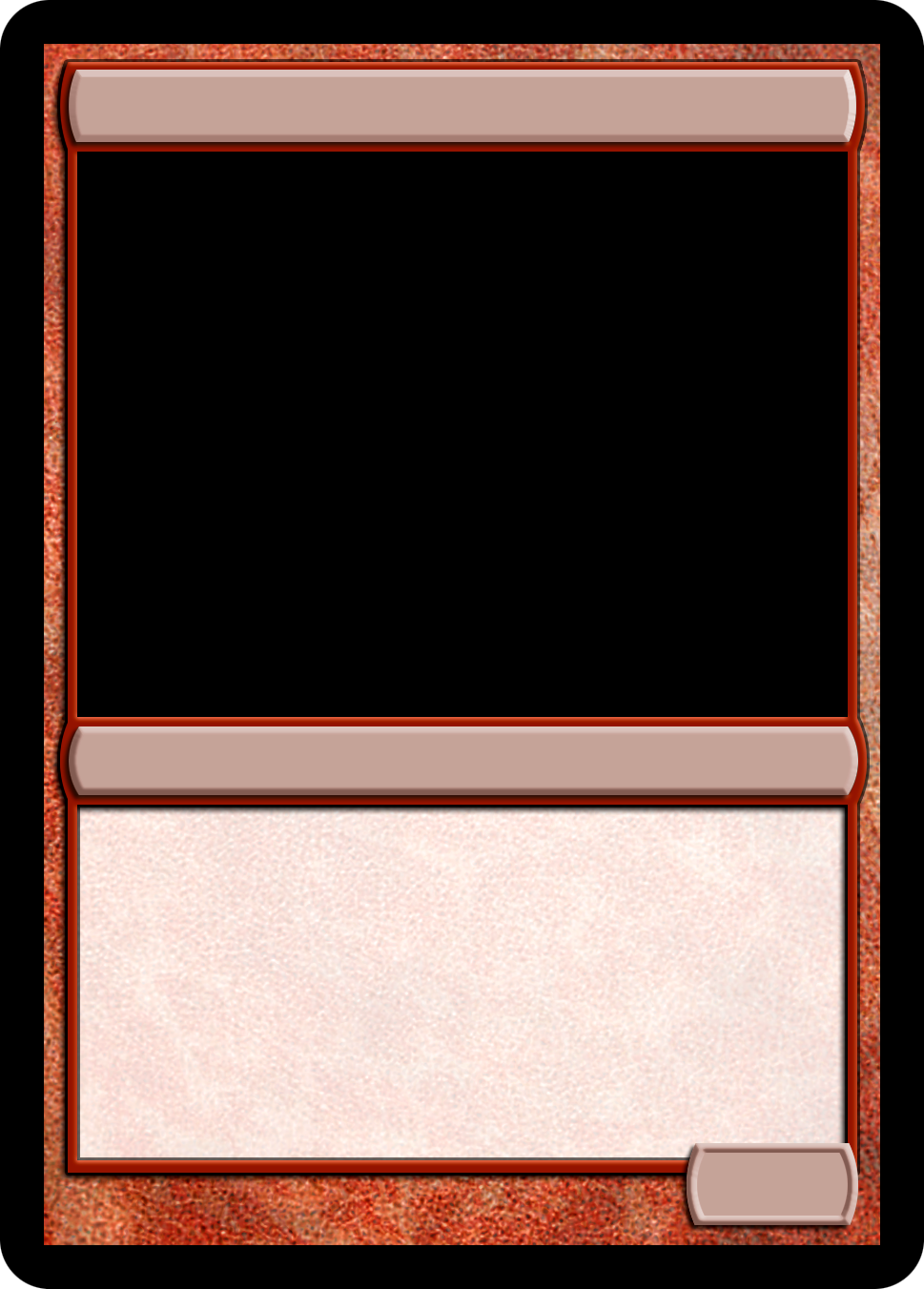 Mtg Monored Creature Template Magic The Gathering Cards Magic Cards Magic The Gathering