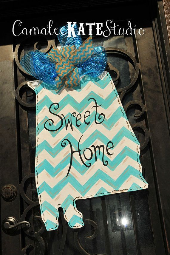 Sweet Home Alabama State Wooden Door Hanger Decoration & Sweet Home Alabama State Wooden Door Hanger Decoration | Alabama ...