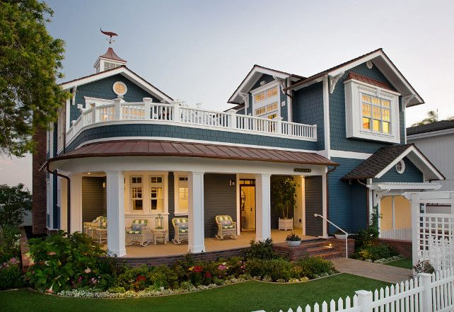 Home Exterior Paint Color Ideas The Shake Siding Is Pacific Blue