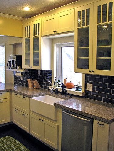 sink kitchen cabinets faucet pull out sprayer above window cliq design over