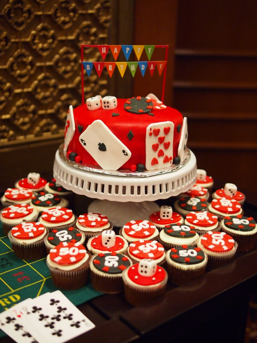 Casino Themed Birthday Cake And Cupcakes My Sweet Treats
