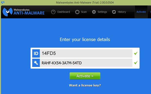 Malware bytes serial
