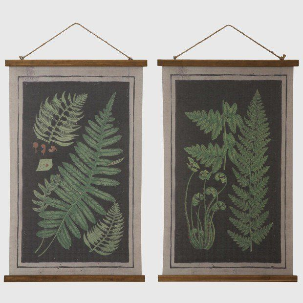 Canvas Fern Wall Art, Set of 2 | House - Must be Bought | Pinterest ...