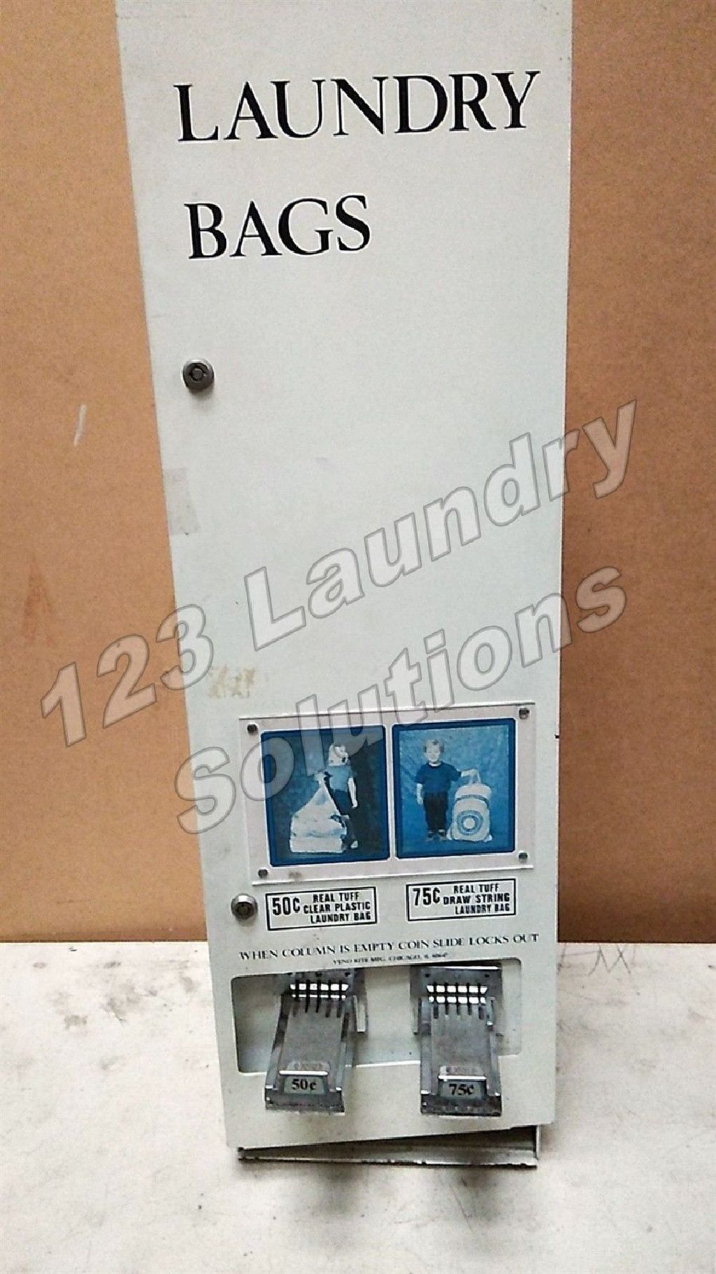 Good Condition Laundry 50 70 Bags Dispenser Used Coin