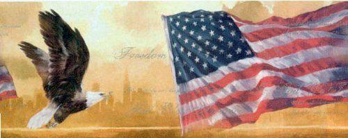 American Flag and Eagle Wallpaper Border . 12.94. Book