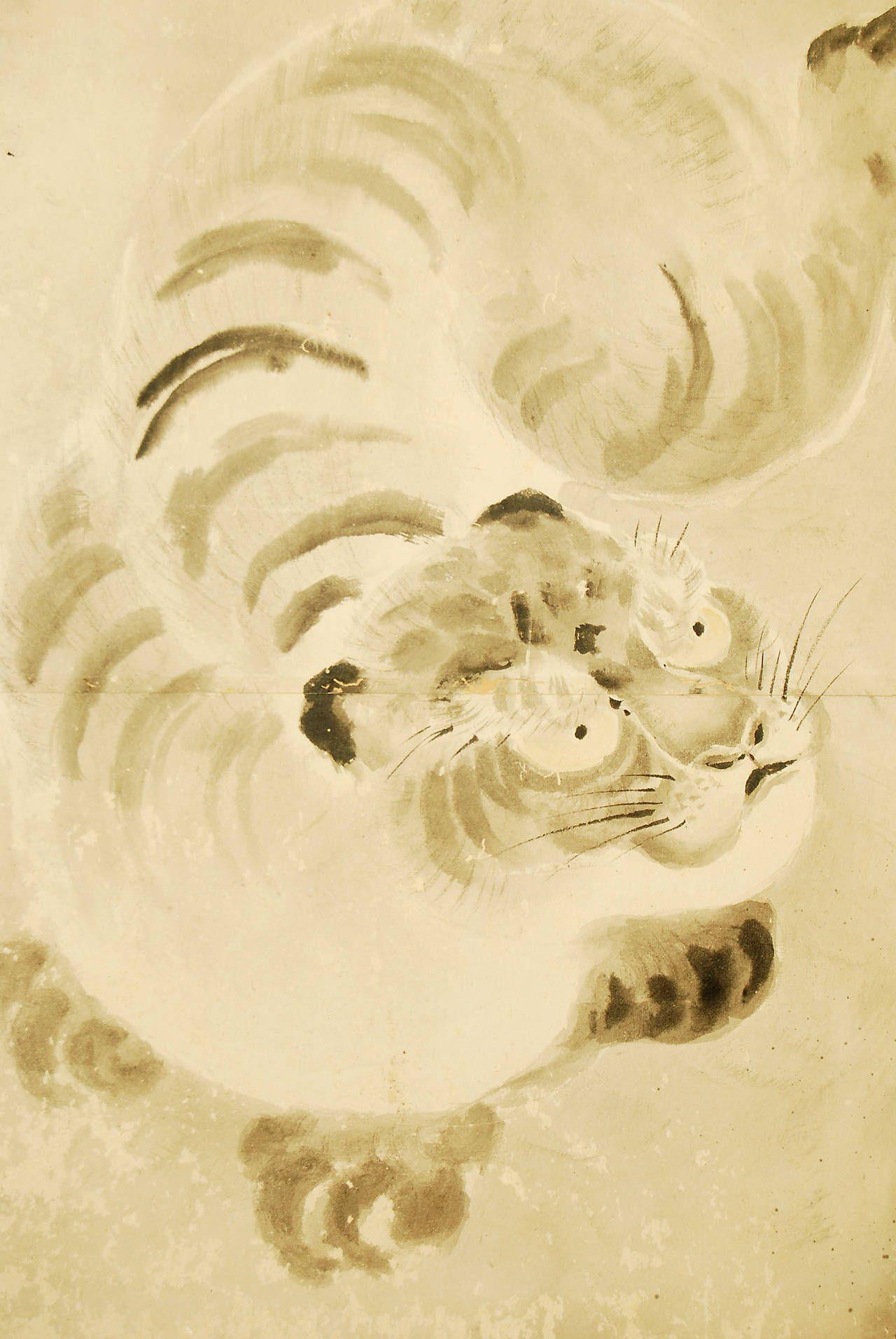 Antique Japanese Kano School Painting by Yosenin Korenobu   Japanese
