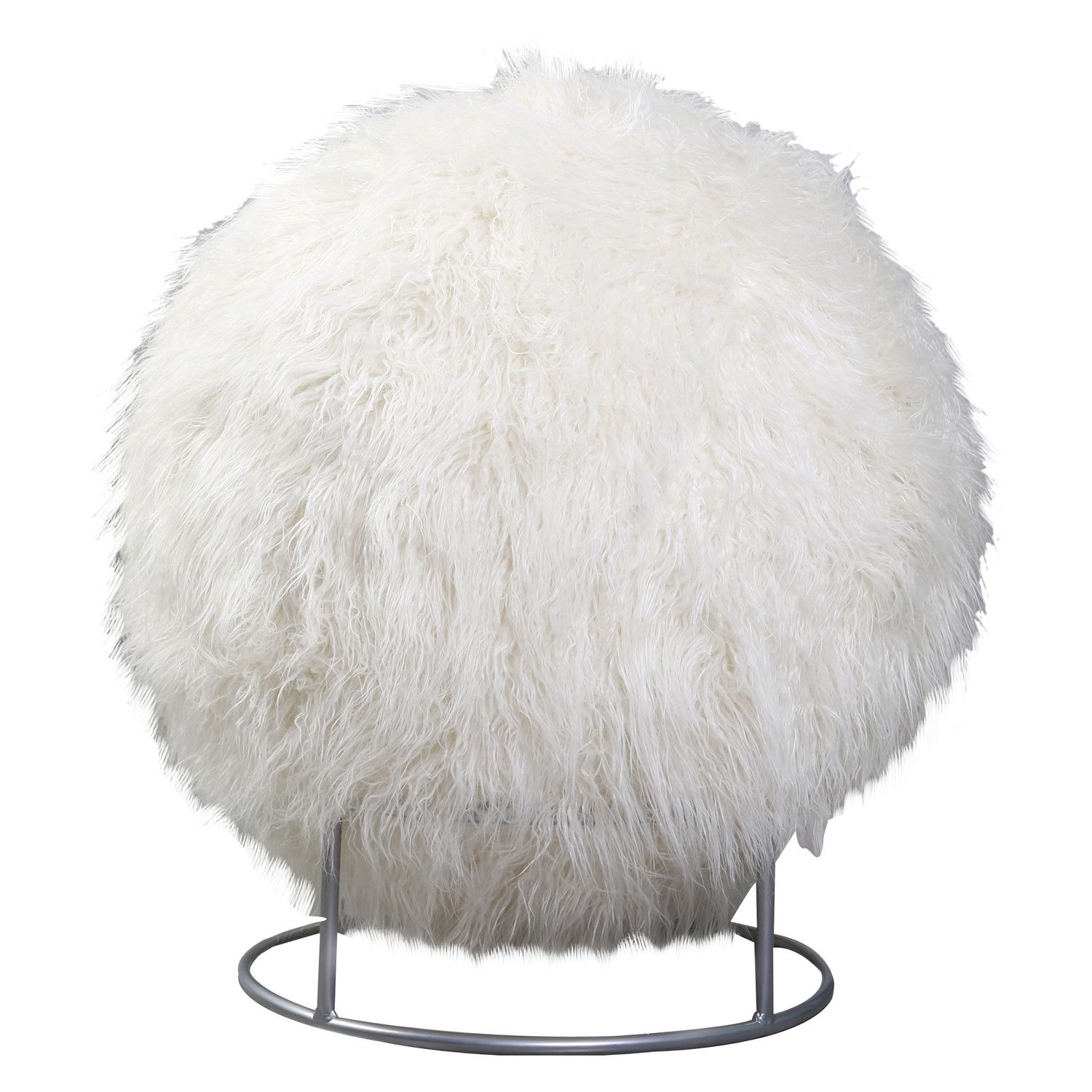 Best Home Fashion Inc Kushy Cushy Mongolian Lamb Faux Fur Yoga Ball Chair Baby