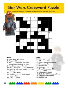 image about Star Magazine Crossword Puzzles Printable titled LEGO Star Wars Crossword Puzzle versus The Brick Collectors
