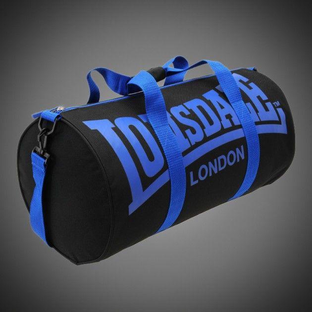 6e8f0fc7b1 Sportovní taška Lonsdale Barrel black blue. Popruh na rameno připínatelný k  tašce. Dva