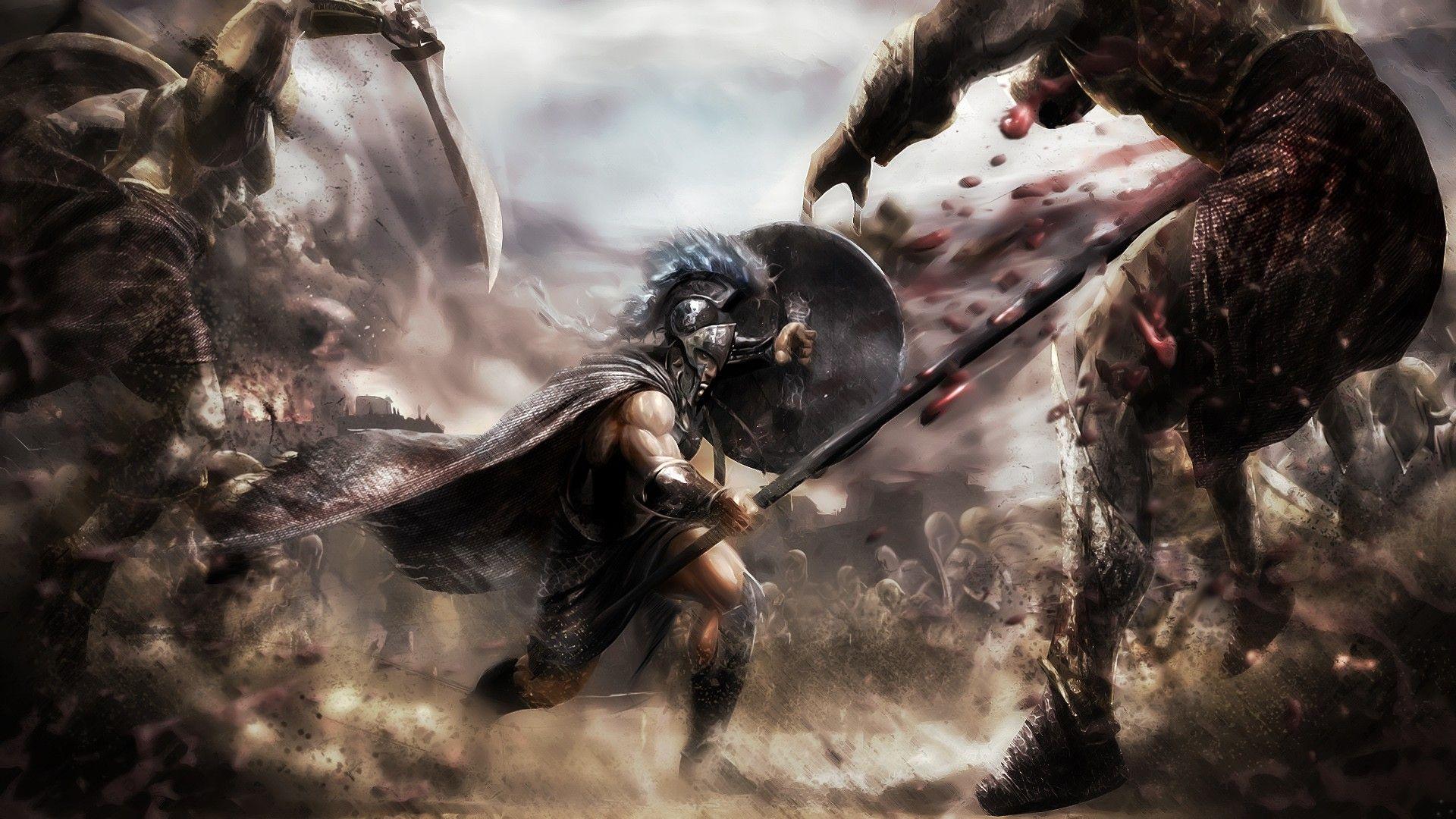 Warrior Full Hd Wallpaper Http Wallpapers And Backgrounds Net Warrior Full Hd Wallpaper Warriors Wallpaper Greek Warrior Fantasy Artwork