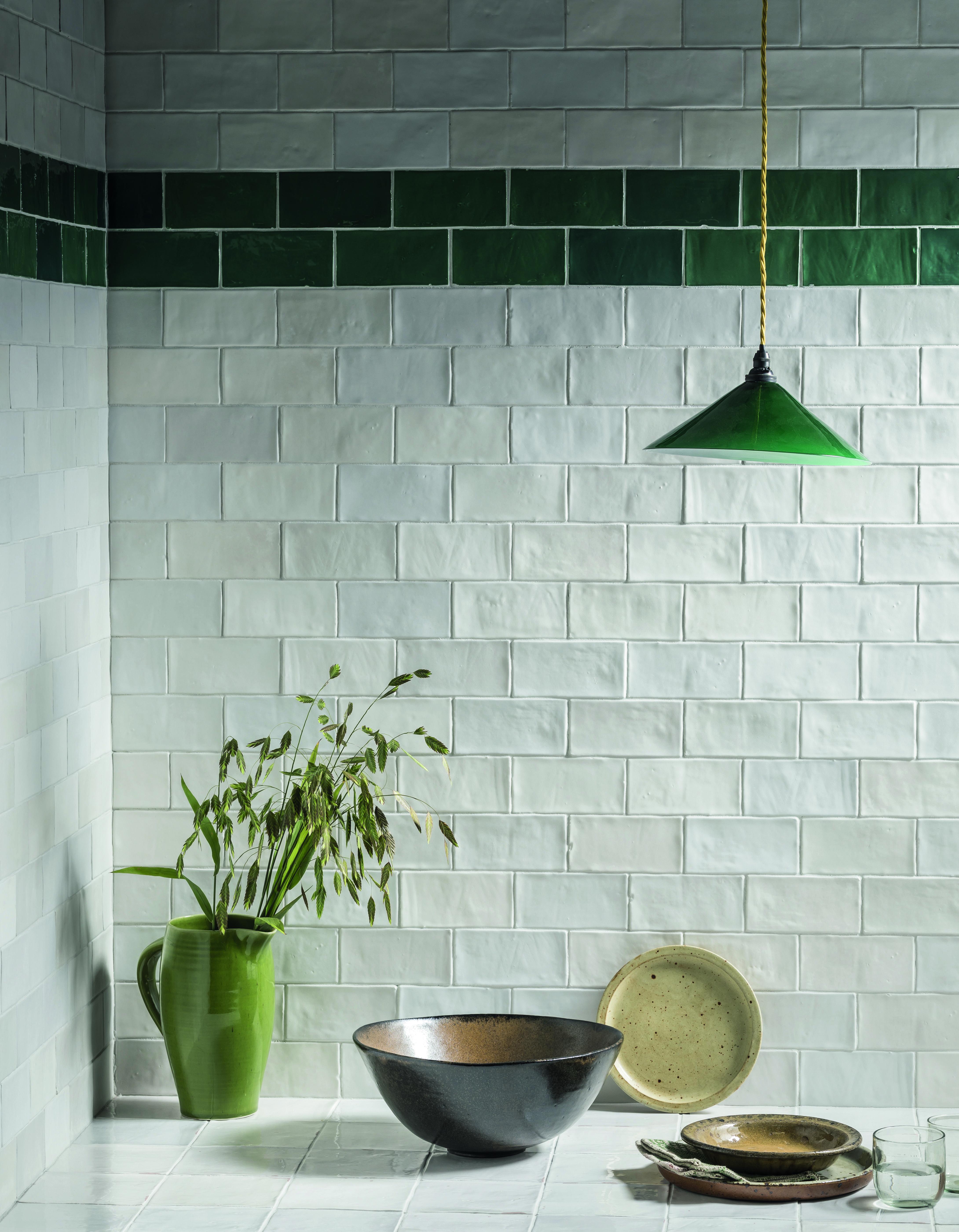 Zellige Nouveau Matt White Metro Ceramic Tile Mandarin Stone Mandarin Stone Glass Tiles Kitchen White Glass Tile